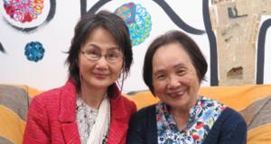 当日、語りを担当する松本乃里子さんと古川代表