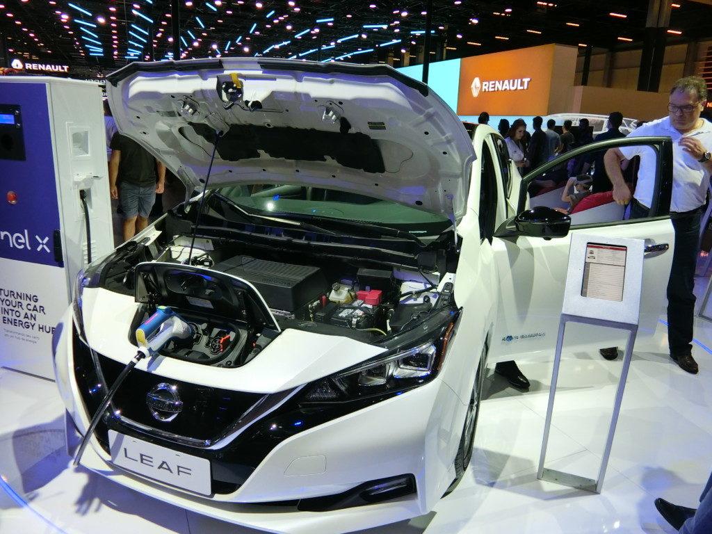 来年販売される日産のEV車「リーフ」