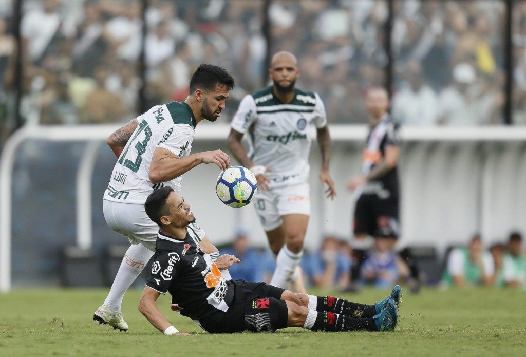 25日、パルメイラスが優勝を決めた対ヴァスコ戦(Rafael Ribeiro/Vasco)