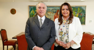 テメル大統領(左)とスエリー・カンポス知事(写真は去年の会談時のもの、Alan Santos/PR)