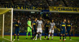 準々決勝でブラジルのクルゼイロを下したボカ(青と黄色のユニフォーム foto: Cruzeiro)