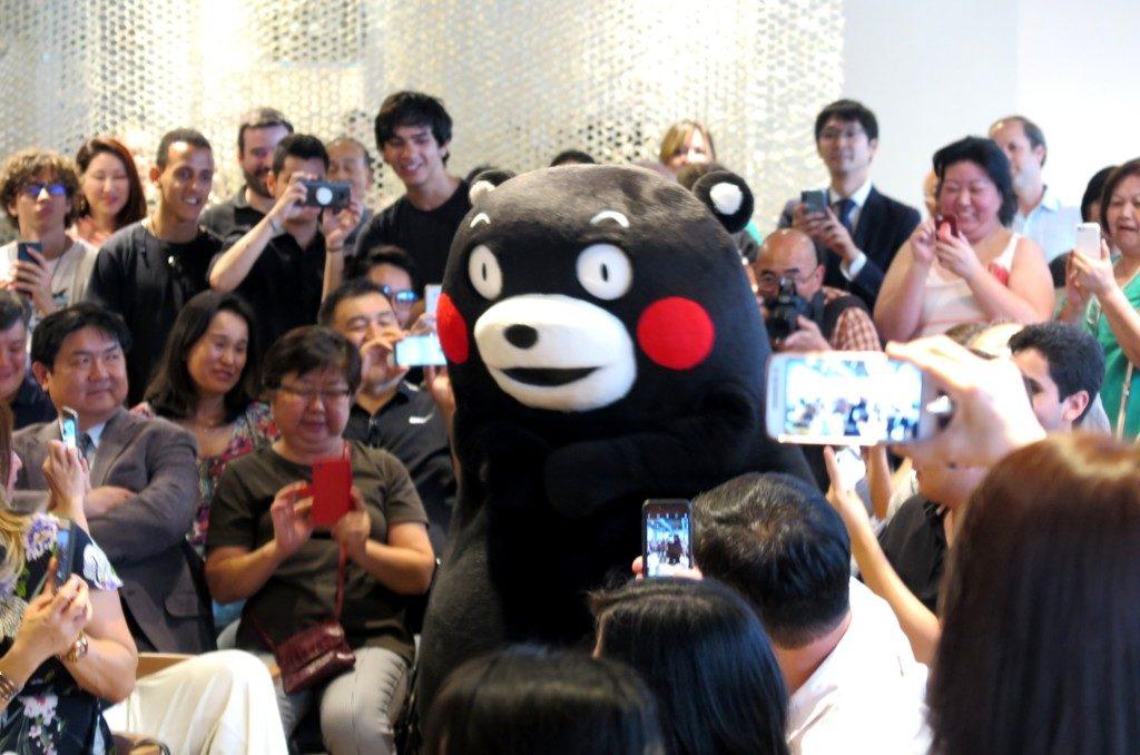 ジャパン・ハウスで南米デビューを飾ったくまモン