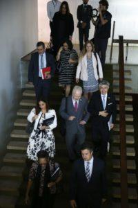 5日にブラジリアに到着した視察団の一行(José Cruz/Agência Brasil)