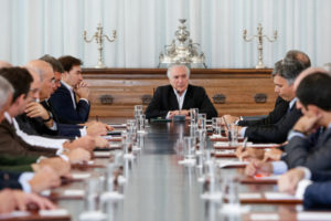 国防審議会でのテメル大統領(Alan Santos/PR)