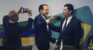 13日の知事会合でのモロ氏(José Cruz/Agência Brasil)