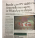 《ブラジル》大統領選=ワッツアップ問題の疑惑企業関係者がF紙に告白=高齢者のCPFなど悪用?=一次投票前は16時間送信