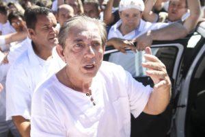 告発報道後、初めて公の場に姿を現したジョアン・デ・デウス氏(Marcelo Camargo/Agência Brasil)