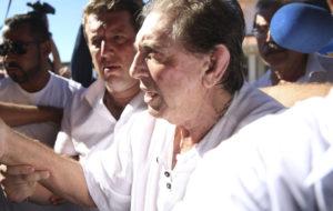 12日、疑惑が大きく報じられた後、初めて姿を現した際のジョアン・デ・デウス(Marcelo Camargo/Agencia Brasil)