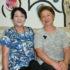 (左から)京藤間勘悦子会主、田中さん