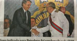 ボウソナロ大統領とエドゥアルド・バセラール・レアル・フェレイラ氏(フォーリャ紙より)