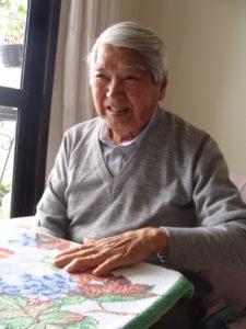 西谷博さん(2010年12月、サンパウロ市の自宅で)
