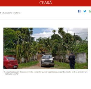 強盗団と軍警との間で銃撃戦が起きた農園(24日付G1サイトの記事の一部)
