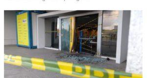 17日未明に襲われたフォルタレーザ市内のブラジル銀行支店(17日付G1サイトの記事の一部)
