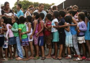 ボア・ビスタに溢れるベネズエラ難民の子ども達(Marcelo Camargo/Agencia Brasil)