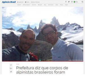 遺体発見について報じた28日付アジェンシア・ブラジルの記事の一部