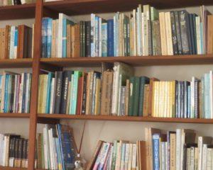 香山文庫が納まった本棚