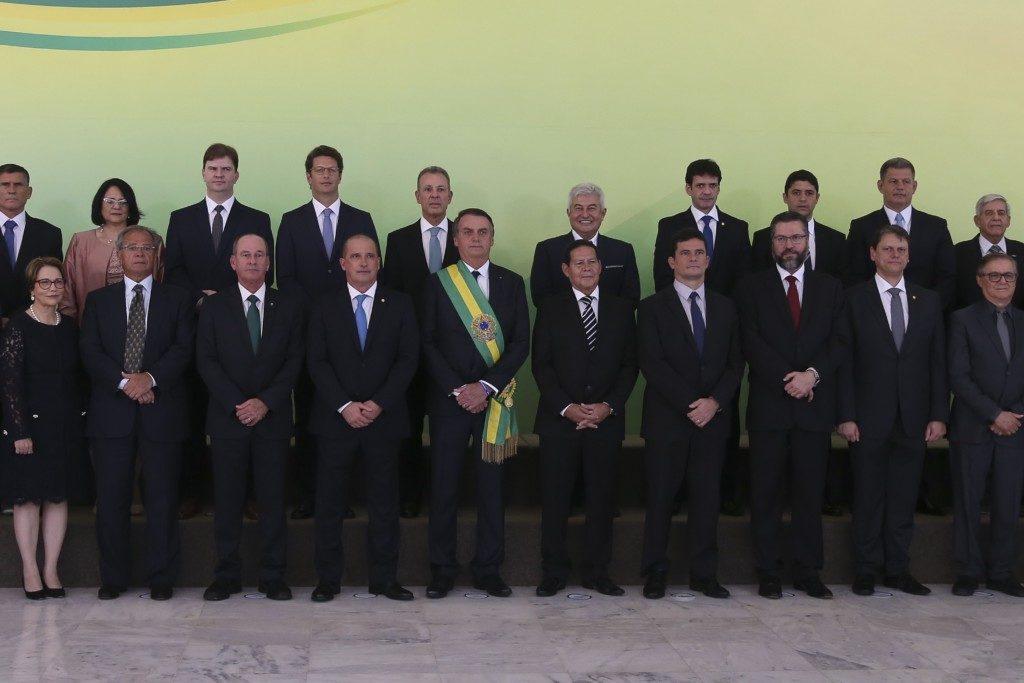 新しく就任した内閣(Foto Valter Campanato/Agência Brasil)