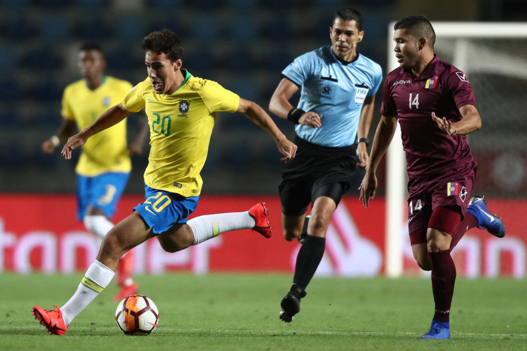 6カ国総当りの最終ラウンドで1分1敗の最下位となり、U20W杯出場に黄色信号が灯ったブラジル代表(Lucas Figueiredo)