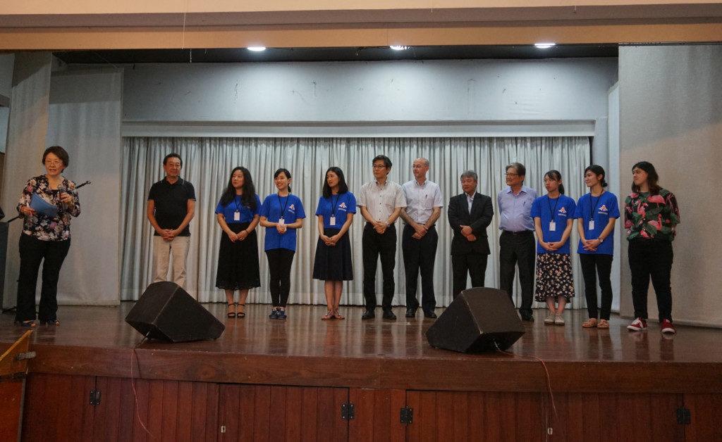 静岡県人会の新年会に参加した一行