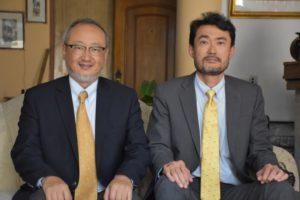 挨拶に来社した斉藤所長、佐藤次長