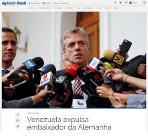 追放されたドイツのクライナー大使(6日付アジェンシア・ブラジルの記事の一部)