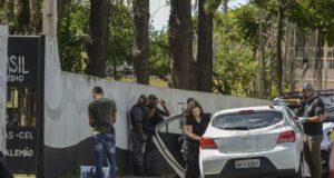事件翌日の学校の様子(Rovena Rosa / Ag.Brasil)