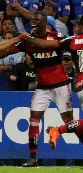 18年3月リベルタドーレス杯でプレーするヴィニシウス・ジュニオル(Agencia de Noticias ANDES)