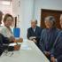 シャッパを提出する石川会長候補