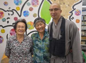来社した長与副部長、上村部長、田原さん