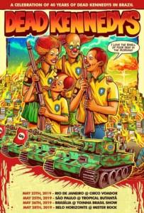 デッド・ケネディーズのブラジル公演ポスター(インスタグラムより)