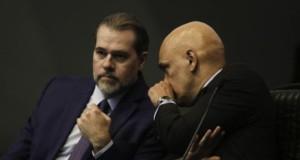 トフォリ長官(左)とモラエス判事(Arquivo/Agencia Brasil)
