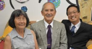 来社した久保田さん、坂本さん、横田さん