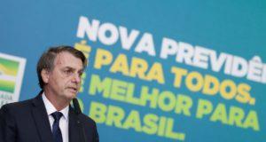 20日のボウソナロ大統領(Marcos Correa/PR)