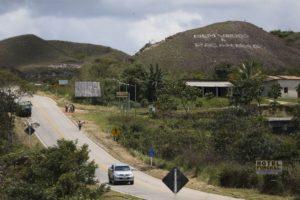 ボリヴァル州サンタエレナ・デ・ウアイレン側から見たロライマ州パカライマ(Marcelo Camargo/Agência Brasil)