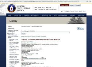 北パラナの勝ち組の動向を報告するCIAの書類