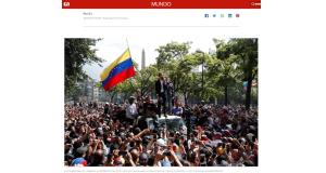 支持者達の前で「軍の支援を得た」と宣言するグアイド氏(4月30日付G1サイトの記事の一部)