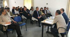 日本語教師意見交換会の様子