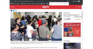 窓口で並ぶ人々(5月30日付アゴラ紙の記事の一部)