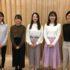左から通訳担当の宮城さん、発表した山下さん、南部、佐野さん、竹内さんの5人