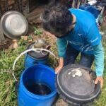 自作肥料の木酢液