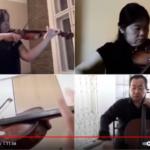 日系5団体ブラジル日本文化連盟の弦楽4重奏団