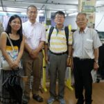 2016年にニッケイ新聞を訪れた李教授(右から2人目)