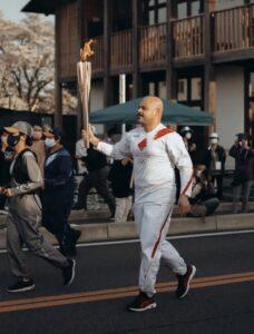 コースを走るナシメントさん(写真提供Eduardo: Julia Stusova)