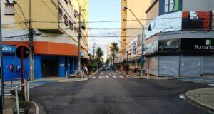 2月に行われたロックダウン時のアララクアラ市(Divulgacao/Prefeitura de Araraquara)