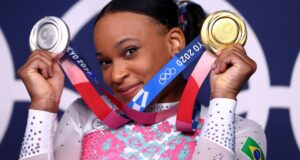 女子体操金メダルのレベッカ
