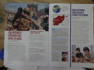 「Qualé」(2021年9月6~20日号)に特集されたアフガニスタン情勢とアフマドさんのページ
