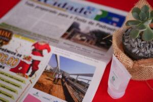 市の新聞でも工事について取り上げられている